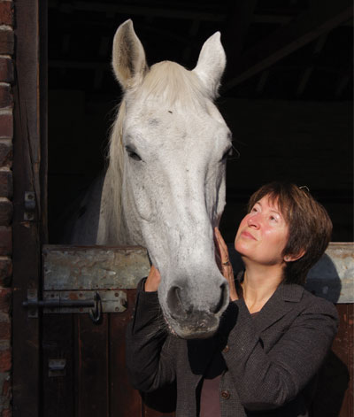 Lynn with a horse